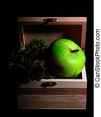 Green Apple in Box
