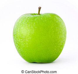 green apple isolate on white background