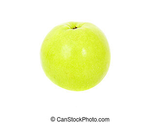 Green apple isolated over white background