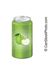 Green apple juice can