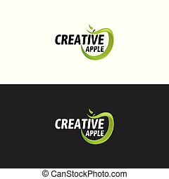 Green Apple Logo, Vector