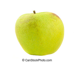 green apple on pure