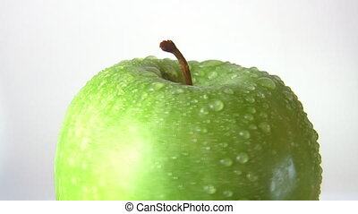 green apple, rotates
