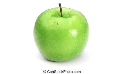 Green apple rotating