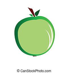 green apple vector illustration