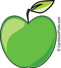 Green apple vector illustration isolated