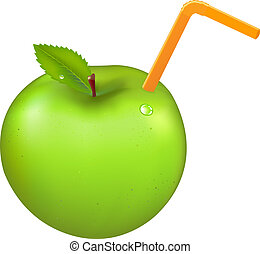 Green Apple With Tubule