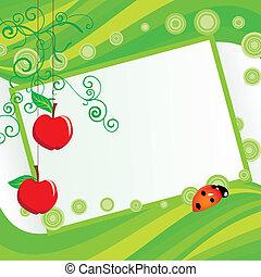green apples frame