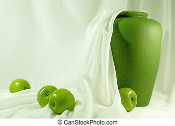 Green Apples - Still life with green apples