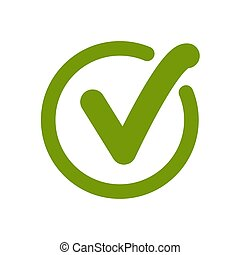 Green approved tick. Done stamp icon vector