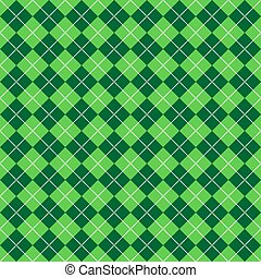 Green Argyle Pattern