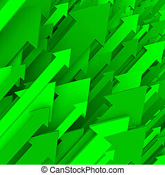 Green Arrow Background - Solid - A series of green arrows...