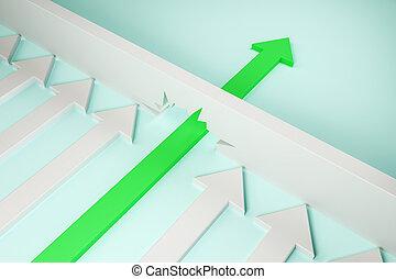 Breakthrough and success concept