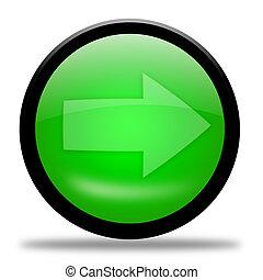 Green arrow button