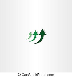 green arrow chart growth logo