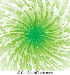 Green Arrow Flowing