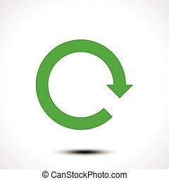 Green arrow icon reload, refresh, rotation, reset, repeat sign.