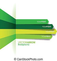 green arrow line background