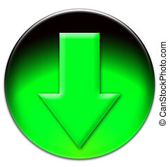 Green arrow looking down