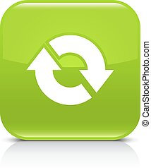 Green arrow repeat, reload, refresh, rotation sign