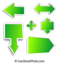green arrow stickers