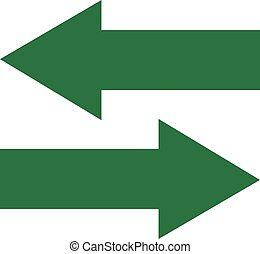 Green arrows back and forward