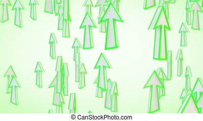 green arrows fly upward loop