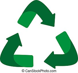 Green arrows recycle eco symbol. Green color. Recycled sign. Cycle recycled icon.