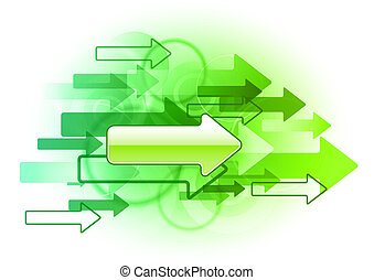 green arrows - right arrows on the green background