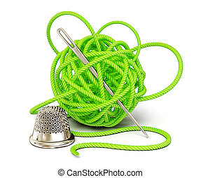 clew - green art clew isolated on a white background