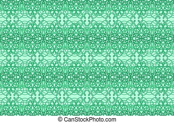 Green art with rabstract seamless knotted pattern