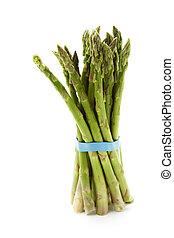 Green asparagus - A bunch of green asparagus (isolated...