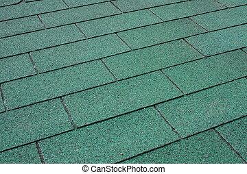 Green asphalt shingle