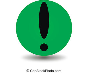 Green attention icon