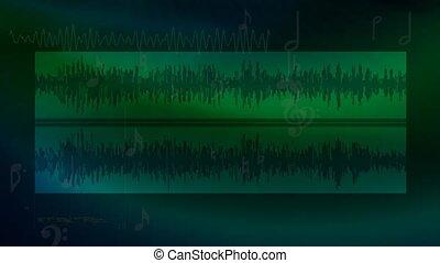 Green audio background