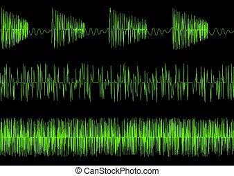 Audio equalizer waves