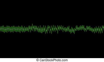 Green audio line wave