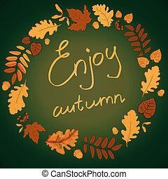 Green autumn background