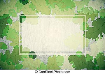 Green autumn foliage background