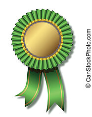 Green award over white