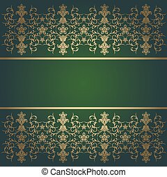 Green background baroque vector