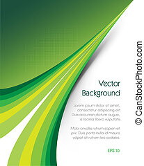Green Background Brochure