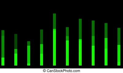 green background equalizer,seamless loop