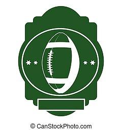 green background heraldic with football ball