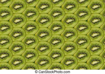 background of sliced kiwi