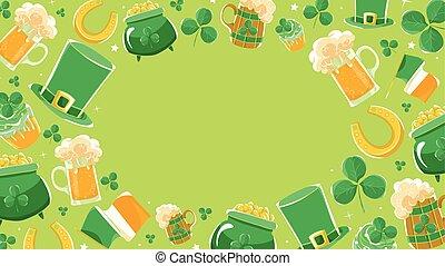 Green background Saint Patricks Day.