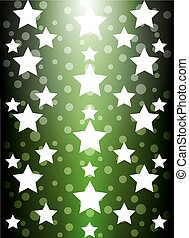 Green background starlight to show