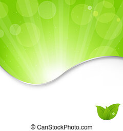 Green Background - Abstract Nature Green Background With...
