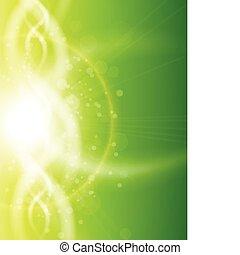 Green background, vector illustration.