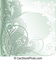green background with a double frame